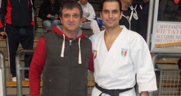 Il campione del mondo Valdesi con l'assessore Pelagalli
