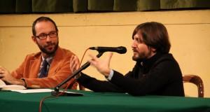 Il direttore artistico Rapaccioni con l'autore Cellini