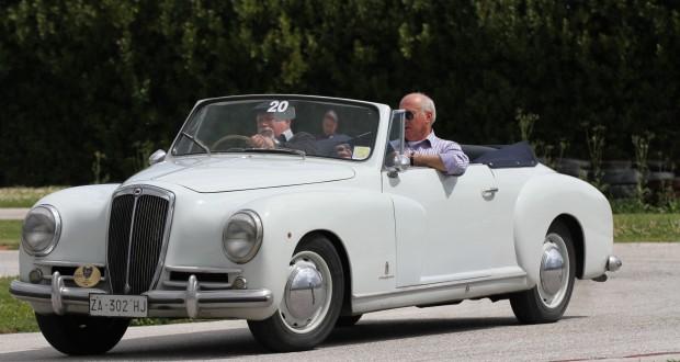 Alessandro Marziali su Lancia Aurelia (1950)