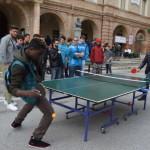 Un momento dello Slotmob in Piazza del Popolo
