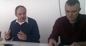 A sinistra Aldo Benfatto, a destra Daniel Taddei, nuovo segretario provinciale della Cgil