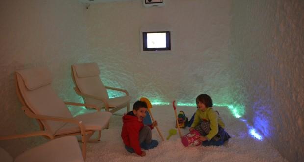 La stanza del sale prima delle scosse di terremoto