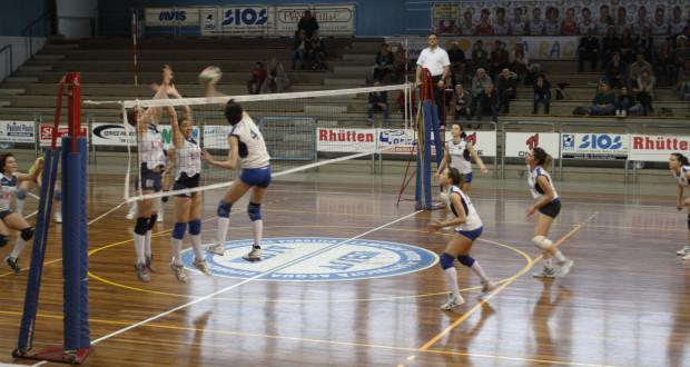 Una fase di gioco del match contro Montecosaro
