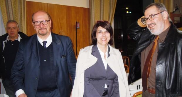 L'europarlamentare Angelilli con il dottor Pietro Cruciani