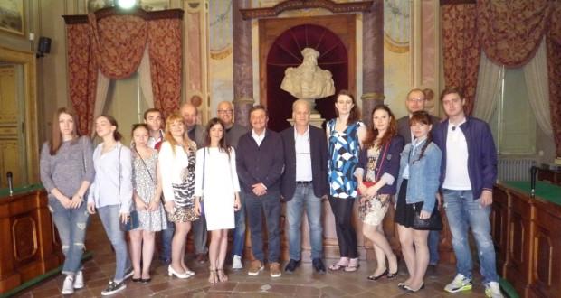 La delegazione di studenti russi ricevuta in Comune