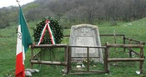 Il monumento al Capitano Salvatore Valerio, a Valdiola