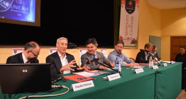 Tavolo dei relatori con Recine e Giuliani