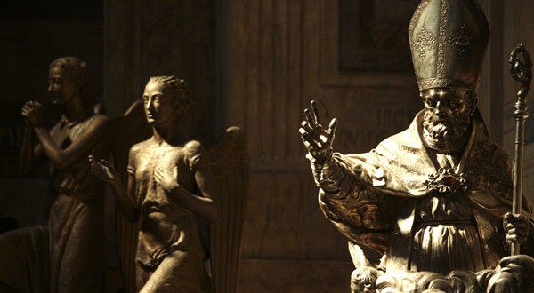 Il busto del santo patrono (foto Gianni Rossi)