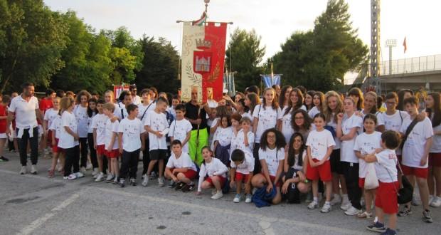 Il gruppo dei settempedani partecipanti alle Olimpiadi