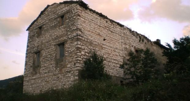 Il rudere vicino al quale è stato rinvenuto il corpo di Sarchiè