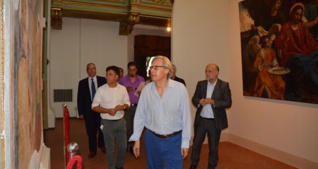 Vittorio Sgarbi, curatore della mostra