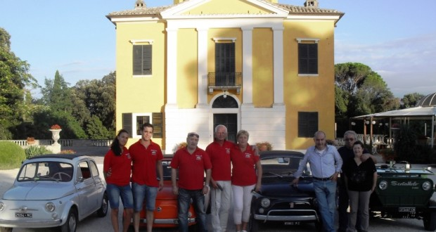 Il presidente Cavallini a Villa Collio con altri equipaggi