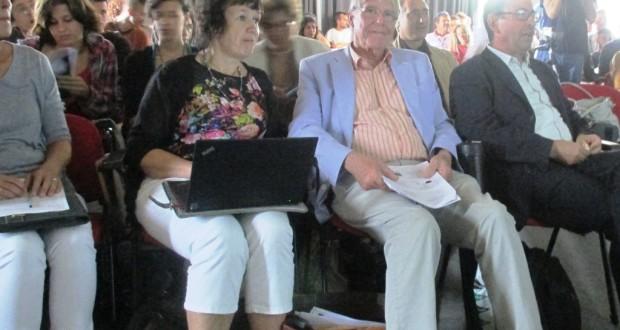 Da sinistra: la professoressa Rannikmäe, il professor Holbrook e il professor Cardellini