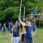 Un momento del campo-scout
