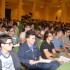 Platea di studenti segue una lezione del prof. Leonesi (foto d'archivio)