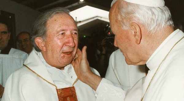 Don Luigi Giussani con Giovanni Paolo II