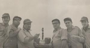 Dalla e Forlai (al centro) con i vecchi Flippers