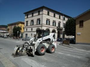 Lavori in viale Bigioli (foto d'archivio)