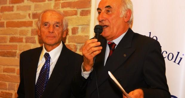 Il presidente Pietro Caglini con il giornalista Renato D'Ulisse