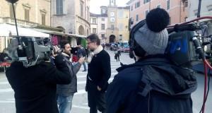 L'architetto Luca Maria Cristini intervistato in Piazza del Popolo