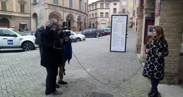 Di nuovo a San Severino le telecamere del Tg3