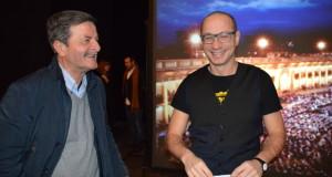 Micheli al Feronia con il sindaco Martini