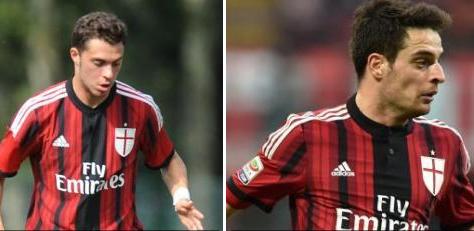 Felicioli e Bonaventura con la maglia del Milan