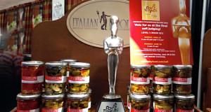 La statuetta d'argento con le olive grigliate della Ralò