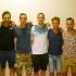 Da sinistra: Dignani, Quagliuzzi, Tiranti, Raponi, Ruggeri, Lorenzi, Rocci