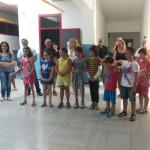 """Alcuni bambini presenti al """"taglio del nastro"""""""