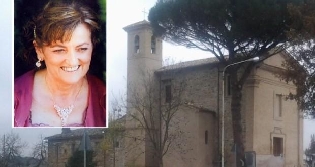 Maria Cutini e la chiesa di Cesolo dove saranno celebrati i funerali