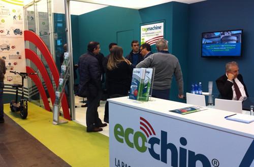 Stand espositivo di eco-chip