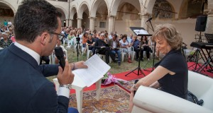 Marta Bellomarì Stortini alla presentazione del libro (foto Hexagon Group)