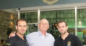 Victor Tavoloni con Jeremias e Lucas Silvestro