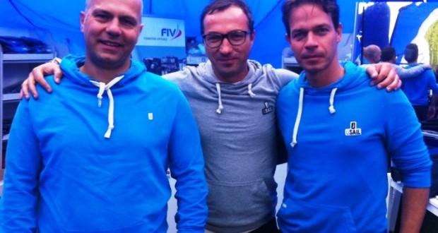 I fratelli Oliviero e Corrado Carducci (ai lati) a Dervio per i Campionati nazionali giovanili