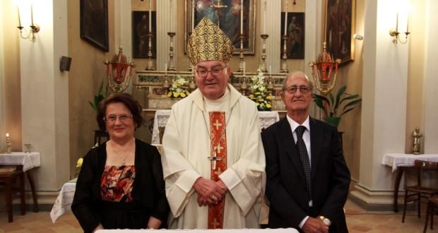Norina e Marino assieme all'abate Rottini