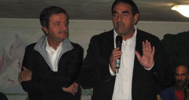 Il preside Luciani con il sindaco Martini