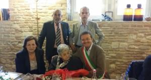 Benigna con il sindaco e con i suoi familiari