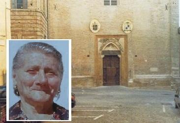 La chiesa di Sant'Agostino e un'immagine della signora Marsilia
