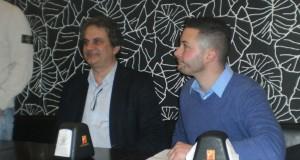 Il segretario Roberto Fiore assieme a Valter Bianchi