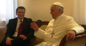 Jorge Milia con Papa Bergoglio