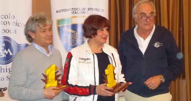 Rita Magnanini ed Enrico Valentini assieme a Pietro Caglini