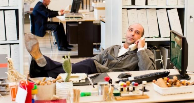 """Checco Zalone in una scena di """"Quo vado?"""""""