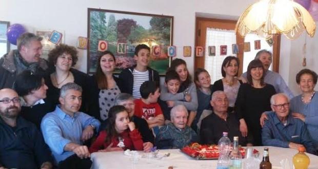 La festa di compleanno in famiglia
