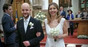 Rhian e Lorenzo felici sposi