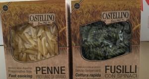 Due confezioni della nuova Pasta Castellino