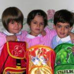 I tre gemellini negli anni della Scuola dell'infanzia