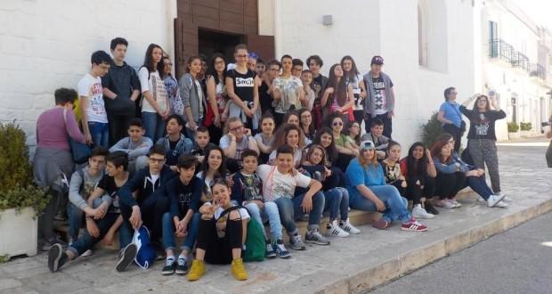 Alunni di terza media in gita in Puglia