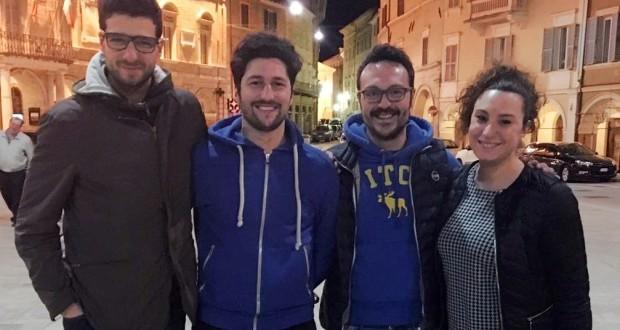 Da sinistra: Andrea Migliozzi, Marco Manasse, Alessandro Pistoni e Valentina Vignati