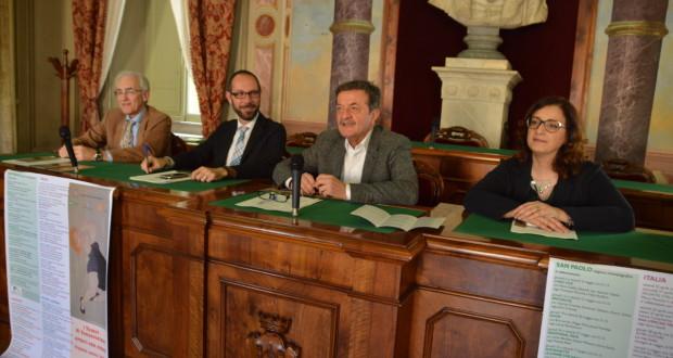 La presentazione degli eventi. Da sinistra: Vignati, Rapaccioni, Martini e Gregori